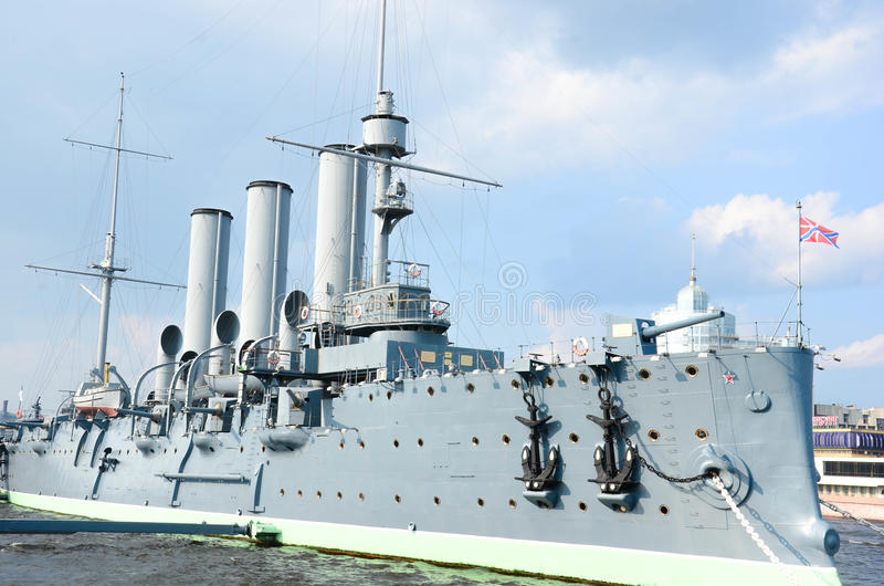 La aurora del crucero imagen de archivo