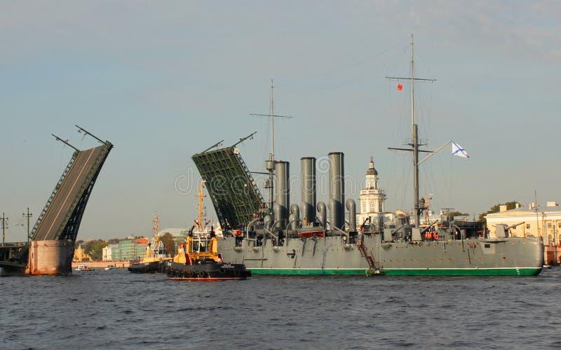 La aurora del crucero va para la reparación foto de archivo libre de regalías