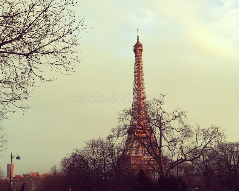 La-Ausflug Eiffel lizenzfreies stockbild