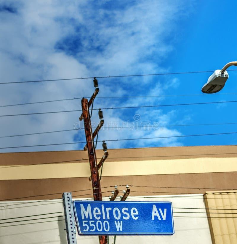 La avenida de la colada firma adentro Los Ángeles imágenes de archivo libres de regalías