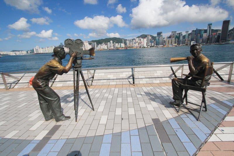 La avenida de estrellas en Hong-Kong imagen de archivo libre de regalías