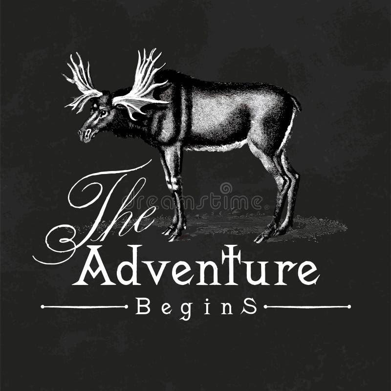 La aventura comienza vector del diseño del logotipo ilustración del vector