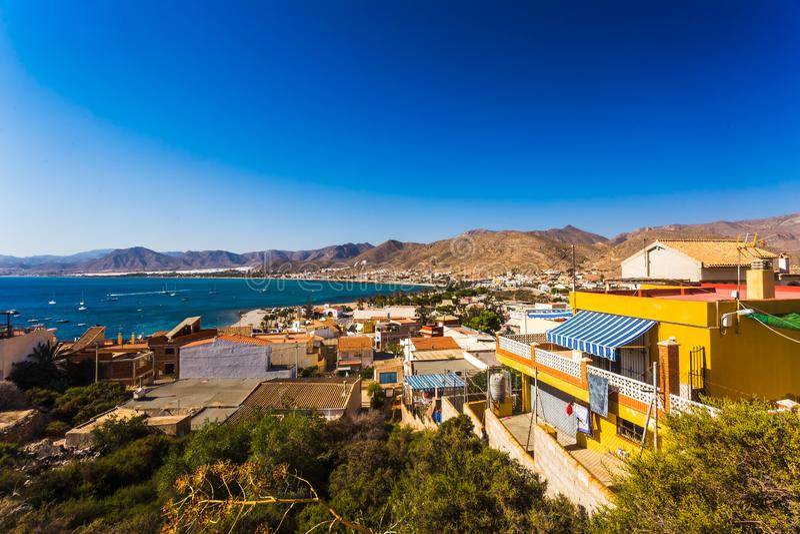 La Azohia, Múrcia na Espanha do mar Mediterrâneo fotografia de stock