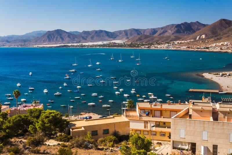 La Azohia, Múrcia na Espanha do mar Mediterrâneo fotos de stock royalty free