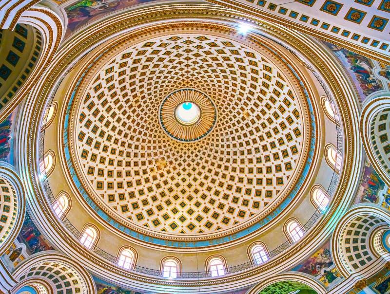 La bóveda de la Rotonda, Mosta fotos de archivo libres de regalías