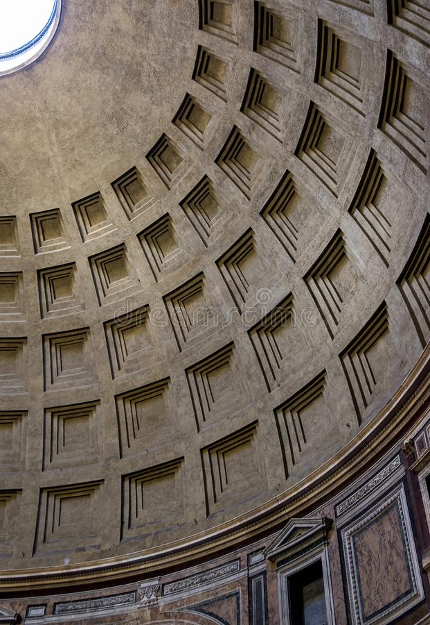 La bóveda del panteón en Roma, Italia fotografía de archivo
