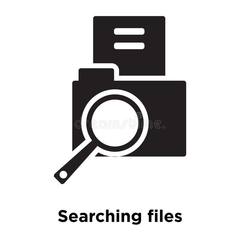 La búsqueda archiva el vector del icono aislado en el fondo blanco, logotipo c stock de ilustración