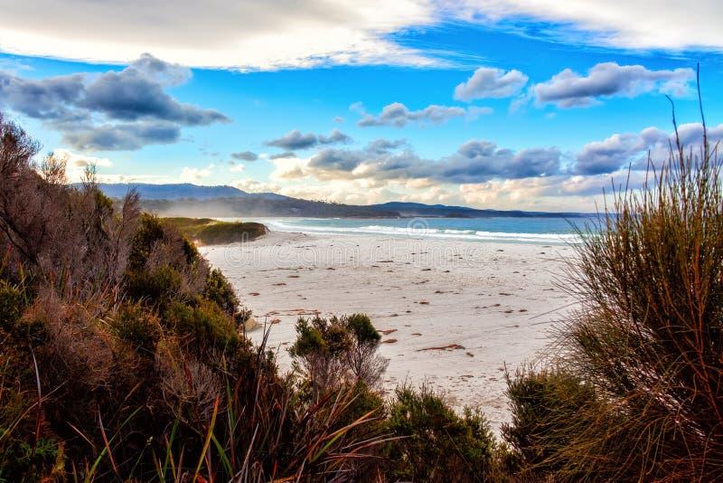 La bahía de fuegos, costa este Tasmania, Australia fotografía de archivo