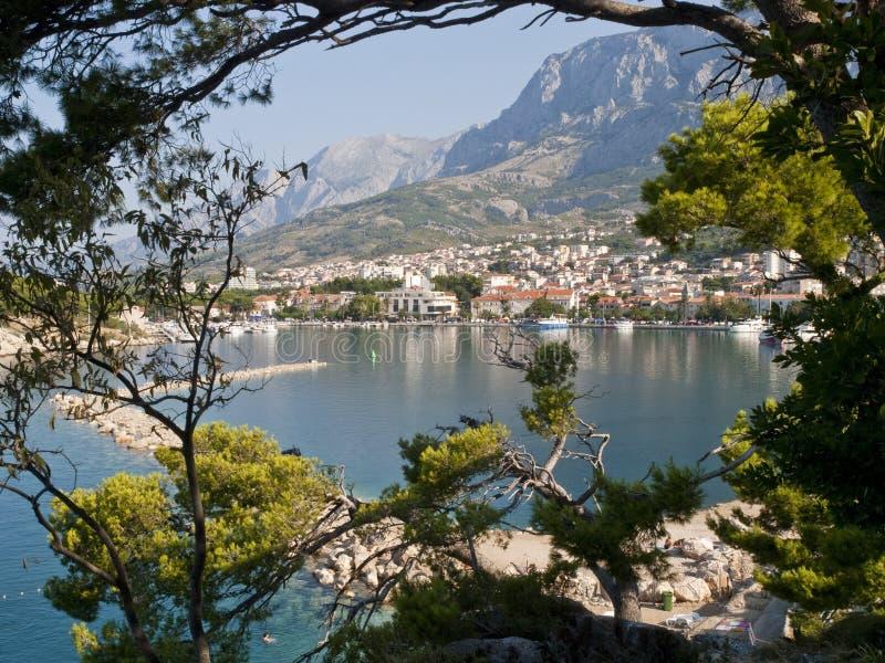 La bahía de Makarska imagen de archivo libre de regalías