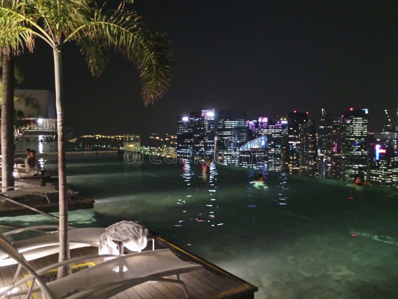 La bahía del puerto deportivo enarena Singapur imagen de archivo libre de regalías