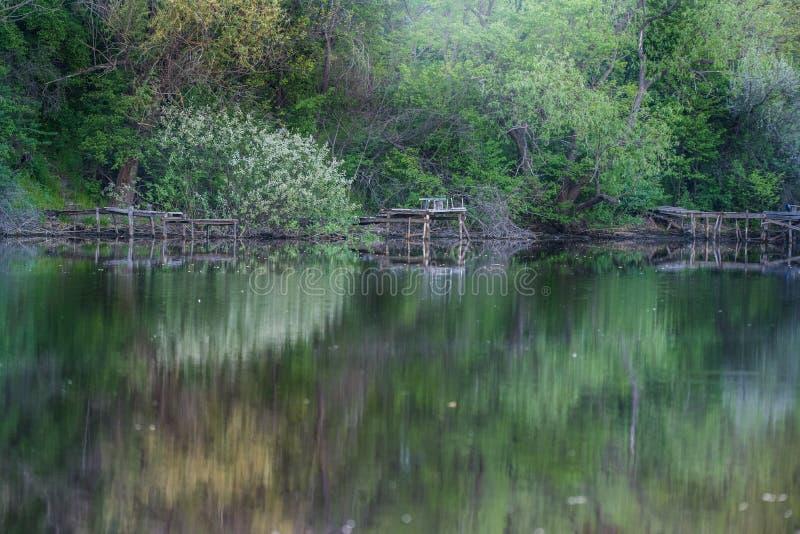 La bahía del río de Dnieper imagen de archivo