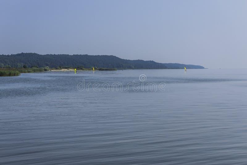 La bahía del Vístula es un día de verano caliente imagen de archivo libre de regalías