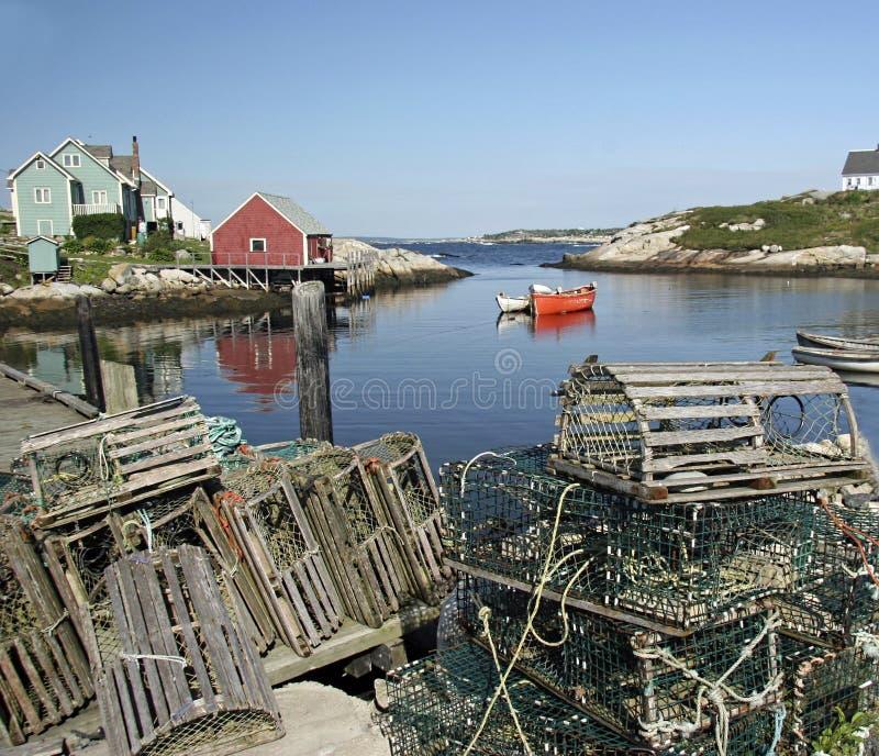 La baia di Peggy, Nova Scotia fotografie stock libere da diritti