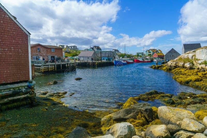 La baia di Peggys del paesino di pescatori immagine stock libera da diritti