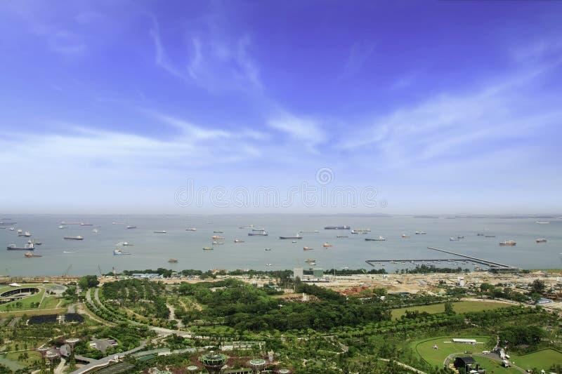 La baia di Singapore. fotografia stock libera da diritti