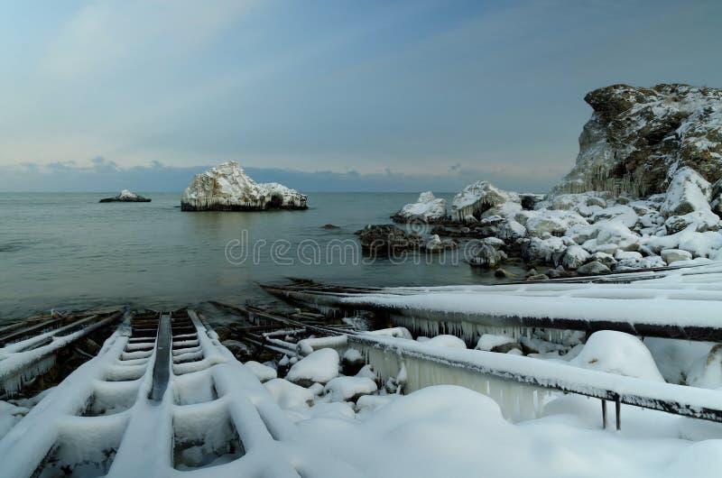 La baie congelée image libre de droits