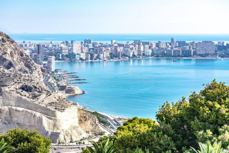 La baie d'Alicante photographie stock libre de droits