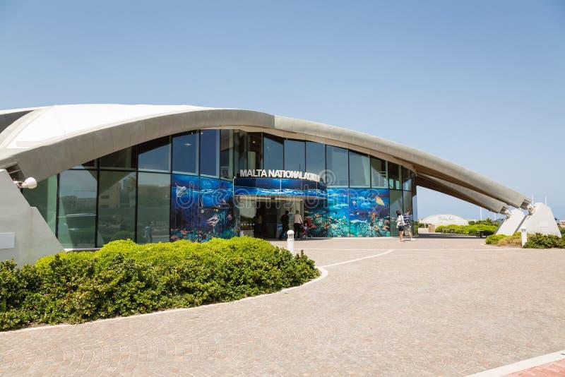 La baie de St Paul, Malte - 8 mai 2016 : Aquarium de Malte Nationale image stock