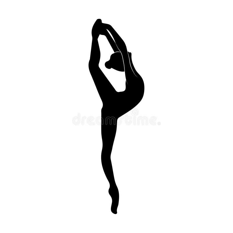 La bailarina baila la figura estilizada Vector stock de ilustración