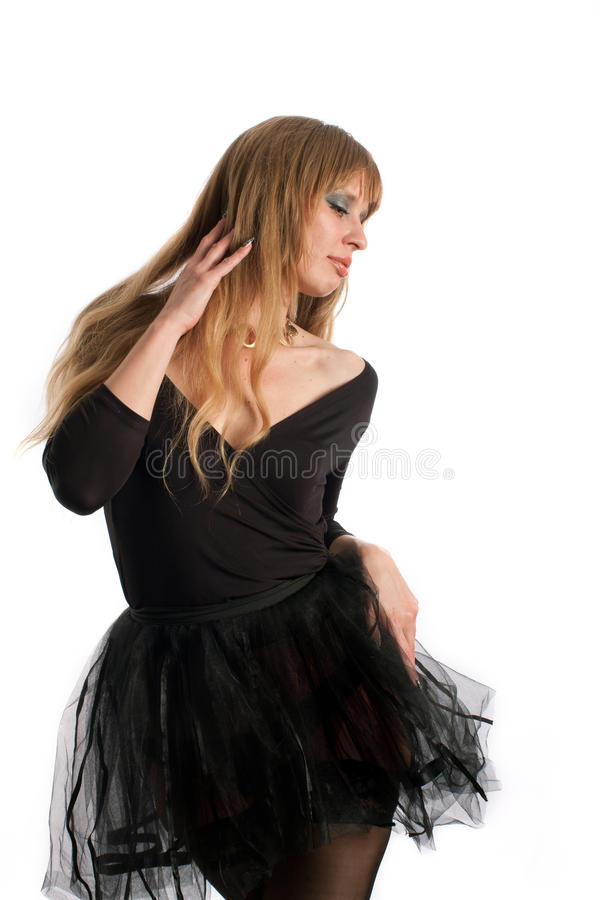 La bailarina en las danzas negras imágenes de archivo libres de regalías