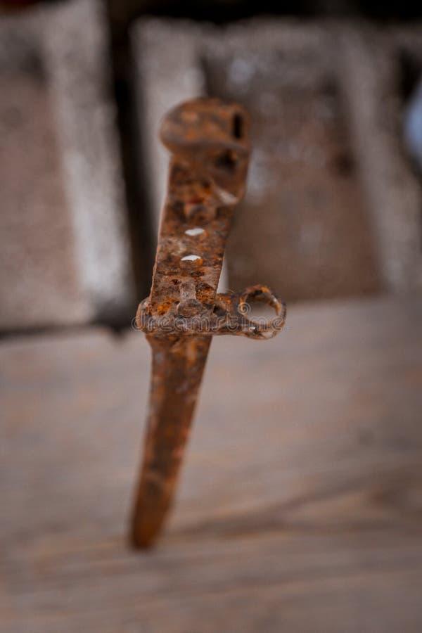 La baionetta del vecchio fucile fotografie stock libere da diritti