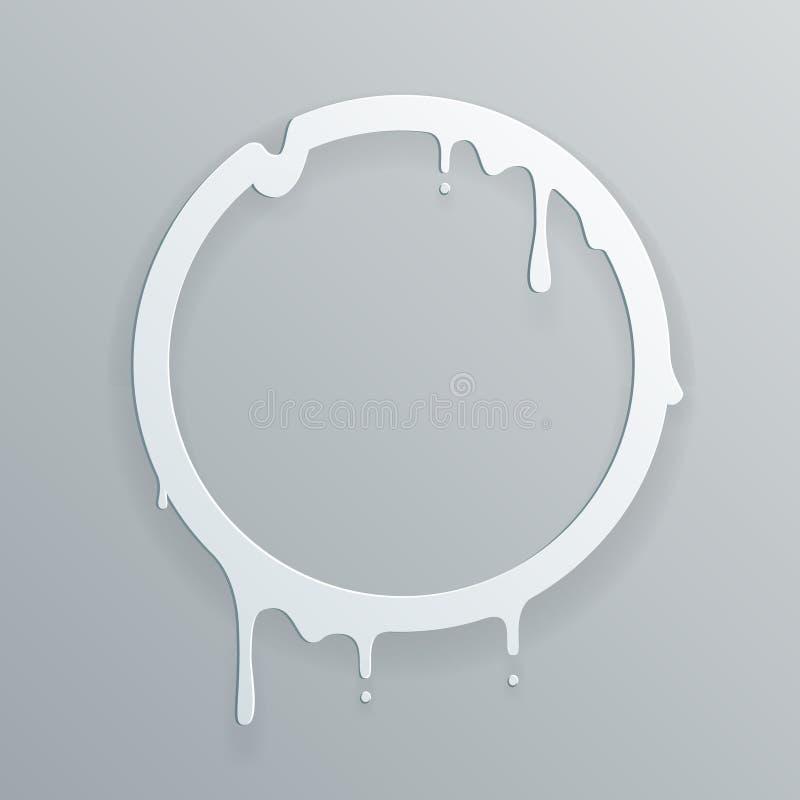 La baisse débordante de papier de fonte de cercle de flux d'art du cadre 3d coulent l'illustration abstraite de vecteur de calibr illustration libre de droits