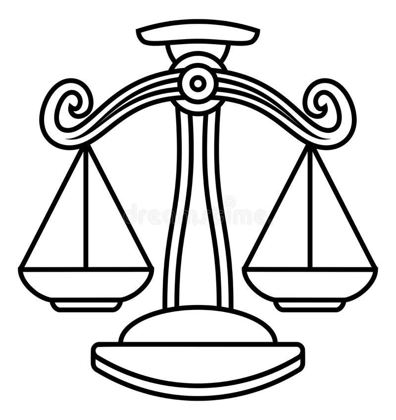 La Balance mesure le signe de zodiaque illustration stock