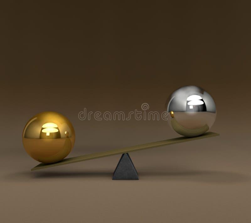 La balanza fijó 2 ilustración del vector