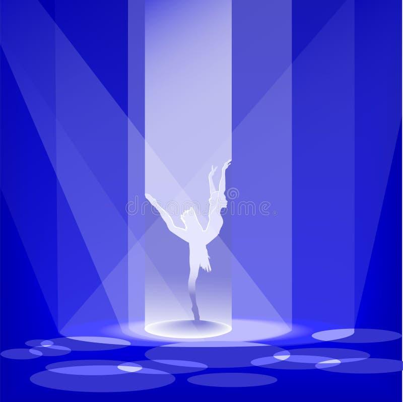 La ballerina illustrazione vettoriale