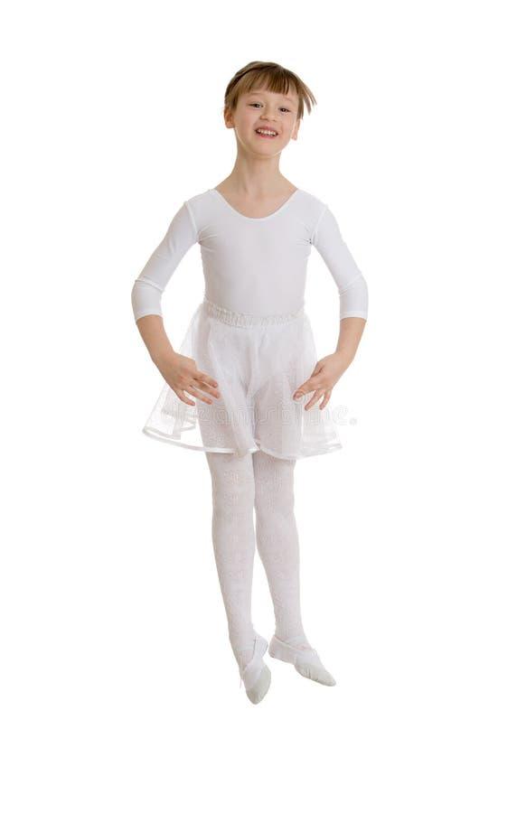La ballerina salta immagine stock libera da diritti