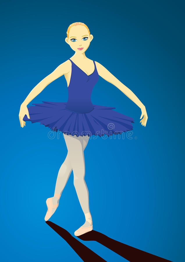 La ballerine illustration libre de droits