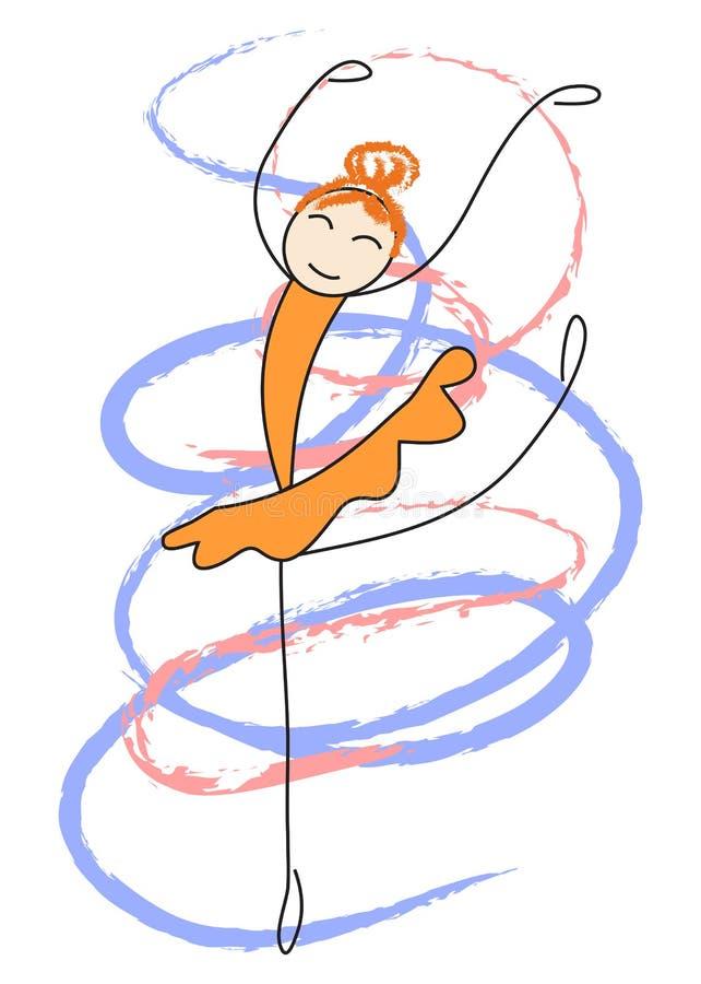 La ballerine danse illustration de vecteur