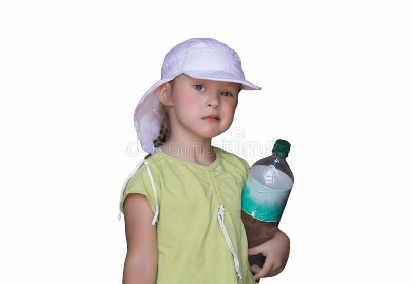 La bambina con l'espressione scettica immagine stock libera da diritti