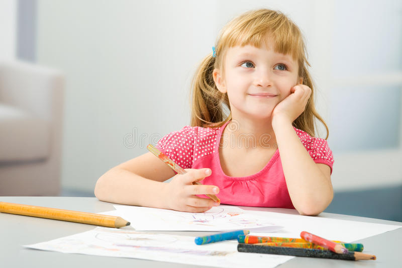 La bambina dissipa fotografia stock libera da diritti