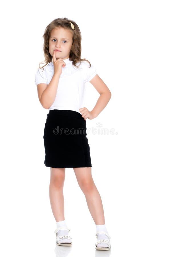 La bambina pensa immagini stock
