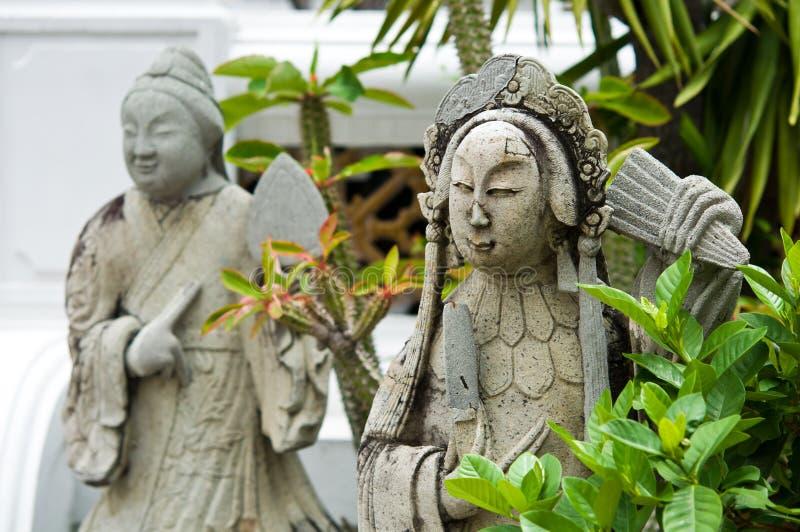 La bambola cinese di pietra nel tempio immagine stock libera da diritti