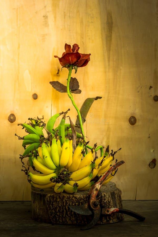 La banane et s'est levée photo libre de droits
