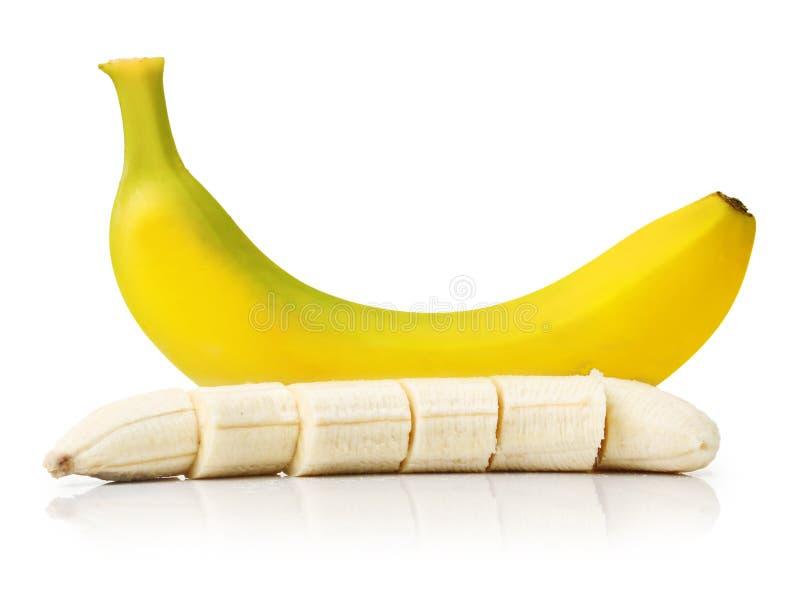 La banane mûre a isolé photographie stock