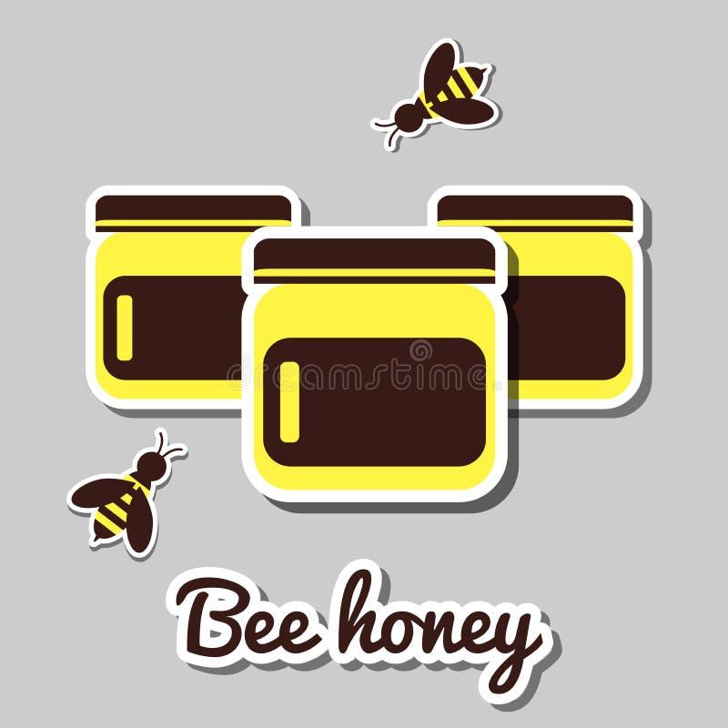 La Banca con Honey And Honeybee illustrazione vettoriale