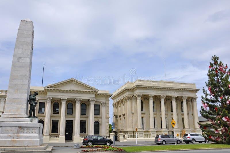 La Banca del Nuovo Galles del Sud in Oamaru, isola del sud, Nuova Zelanda immagine stock libera da diritti