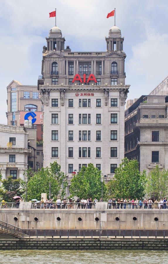 La Banca dell'edificio di Taiwan, Shanghai, Cina fotografia stock