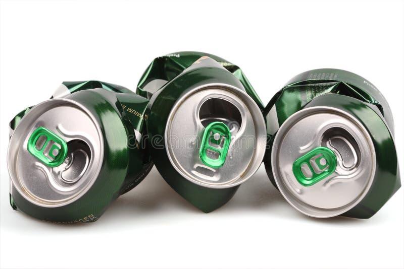 La Banca di alluminio della birra immagini stock libere da diritti