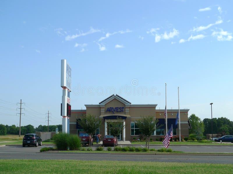 La Banca di Arvest, Sallisaw, Oklahoma fotografia stock libera da diritti