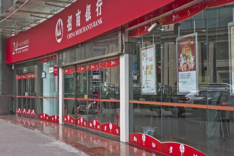 La Banca di commercianti della Cina immagine stock