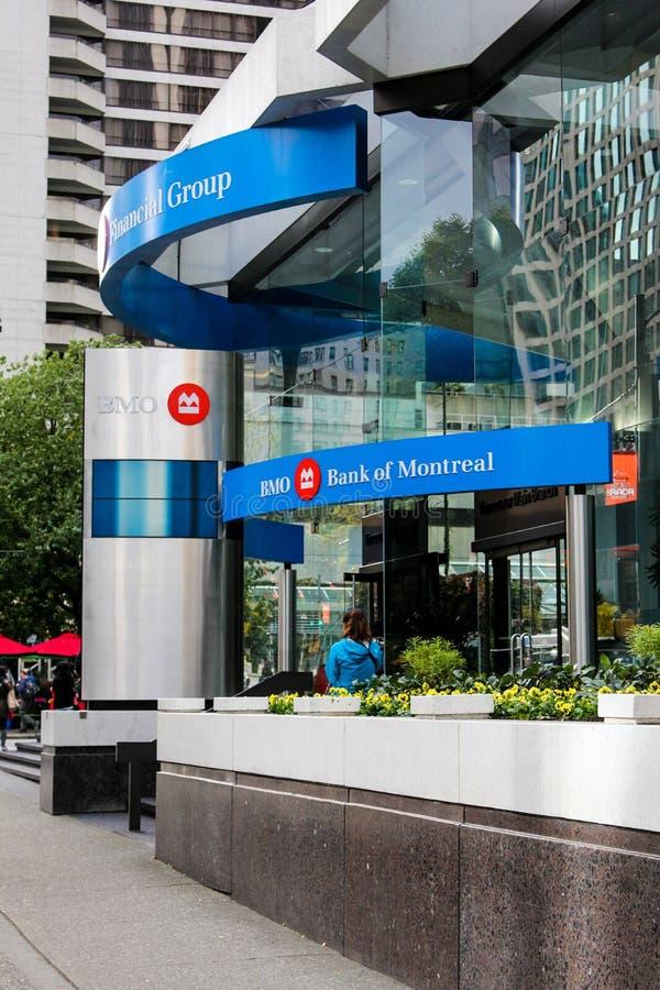 La Banca di Montreal, Vancouver, Canada fotografia stock
