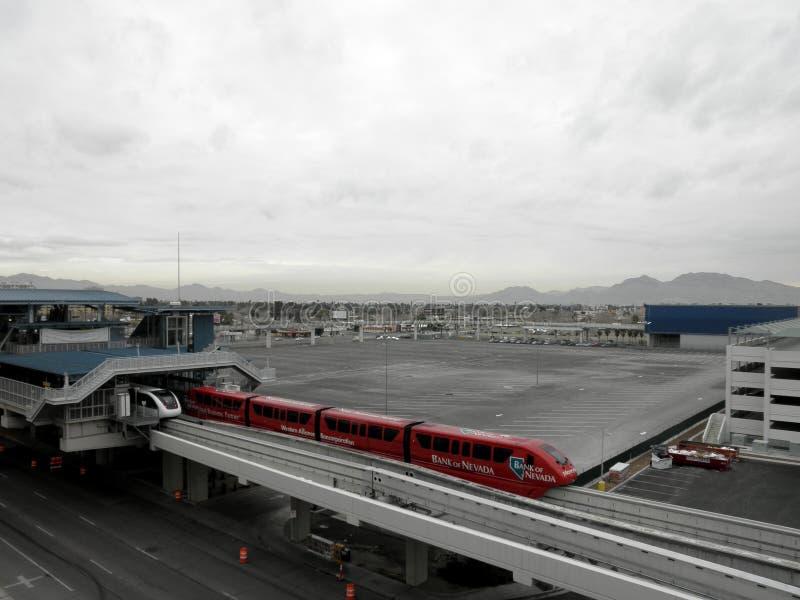 La Banca di Nevada Train entra nella stazione della monorotaia di SLS fotografie stock