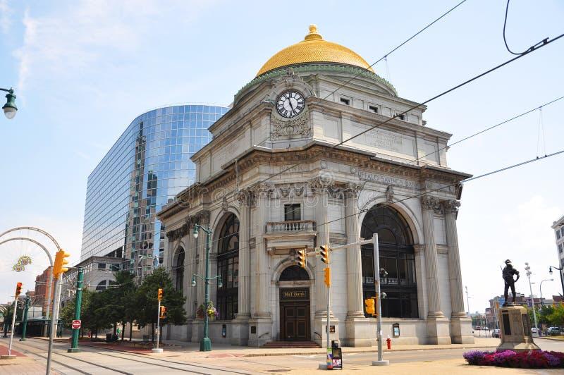 La Banca di risparmio della Buffalo, Buffalo immagine stock libera da diritti