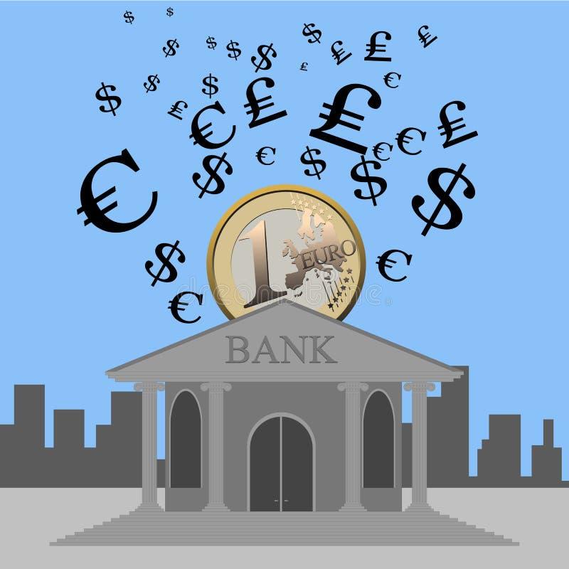 La Banca e valuta royalty illustrazione gratis