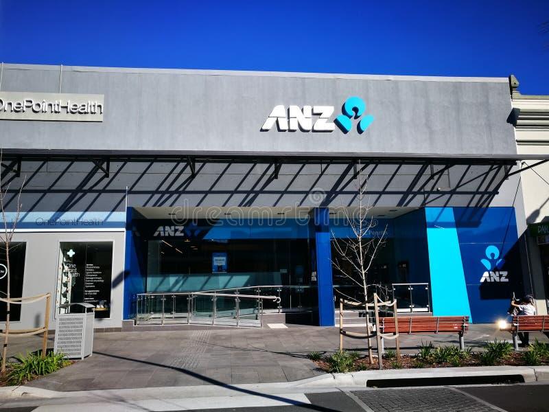 La Banca Nuova Zelanda di ANZ limitata, funziona come filiale del ramo del gruppo di attività bancarie della Nuova Zelanda e dell fotografia stock