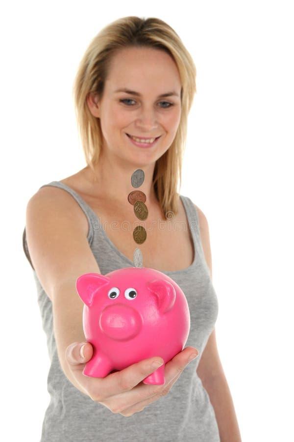 La Banca Piggy - concetto di risparmio immagine stock libera da diritti